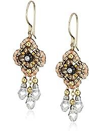 Pink Clover Swarovski 14k Gold Filled Dangle Earrings