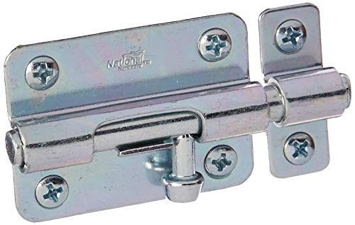 Hardware Barrel Bolts - National Hardware N151-555 2 Pack V834 3in. Barrel Bolt, Zinc Plated