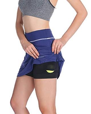 STEELEMENT. Women's Tennis Skorts Casual Shirt Running Skorts Shorts Exercise Fitness Activewear