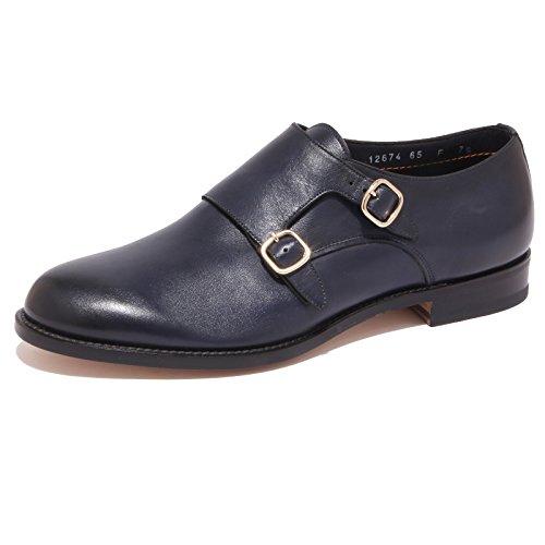 1091Q scarpa uomo SANTONI blu shoe men Blu