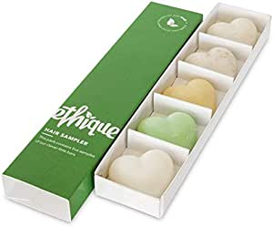 Ethique Eco-Friendly Hair Sampler, 5 Piece Variety Pack Beauty Bar Set (3 Shampoos + 2 Conditioners), Sustainable, Plastic Free, Soap Free, Vegan, Plant Based, 100% Compostable and Zero Waste, 5 bars