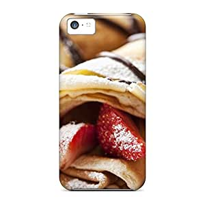 Hot Fashion LHK23380uoCy Design Cases Covers For Iphone 5c Protective Cases (sugar Pancakes Strawberries)