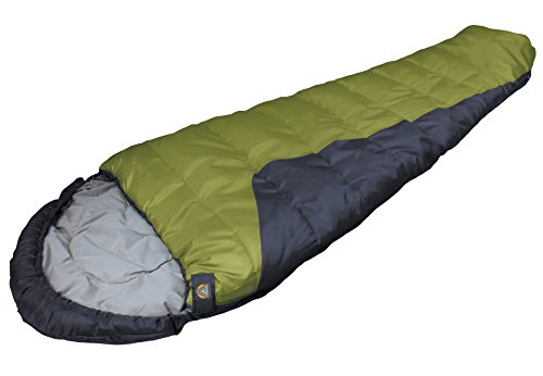High Peak USA Alpinizmo TR 0 Mummy Sleeping Bag with Stuff Sack, Green/Black, Regular -