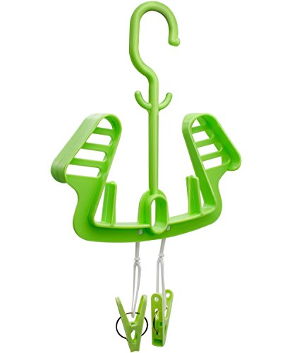 Heavy Duty Plastic Shoes Hanger Organizer with Clips, Windproof