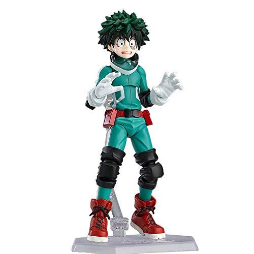 - Bowinr My Hero Academia Figma Action Figure, Izuku Midoriya Todoroki Shoto Katsuki Bakugou Vinyl Figure Collectible PVC Figure for Kids Teens and Anime-Fans(Izuku Midoriya)