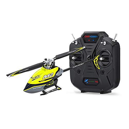OMPHOBBY M2 Dual-brushless Motor Direct-Drive 3D Helicopter-RTF (Racing Yellow)