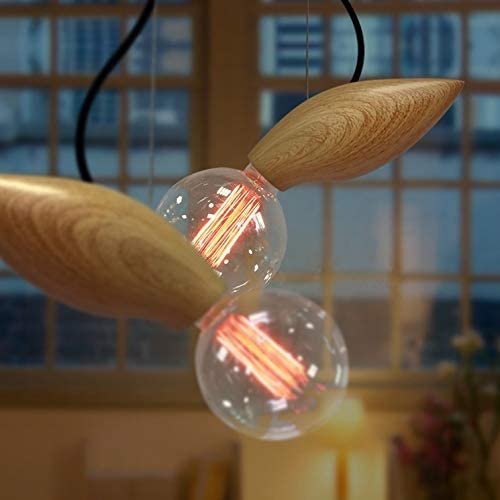 Lovedima Modern Style Wood Art Ceiling Lights Fairy Mini Pendant Lighting Hanging Single Lamp Light Fixture