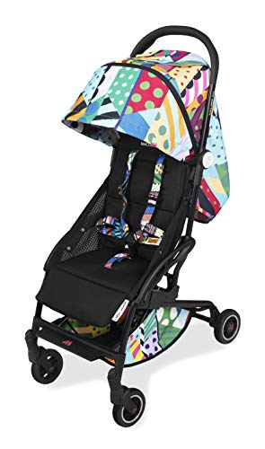 Maclaren Atom Jason Woodside Style Set Travel System- Super lightweight, ultra-compact, fits on airplane's overhead storage. Car seat compatible. Loaded with accessories. Multi position reclining seat