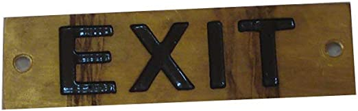 Boat//Nautical 6.5 x 1 Inches 228 LAUNDRY  – Marine BRASS Door Sign