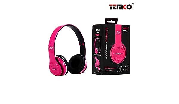 Temco - Auriculares Bluetooth 4.2 de Diadema S460 con Radio, MP3 y Manos Libres: Amazon.es: Electrónica