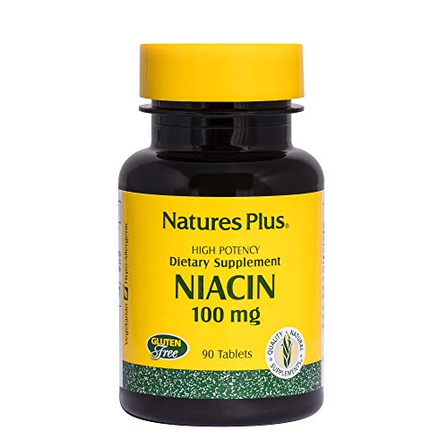 Natures Plus Niacin – 100 mg, 90 Vegetarian Tablets – High Potency Vitamin B3 Supplement, Promotes Heart Health & Lower Cholesterol, Brain Booster – Gluten Free – 90 Servings For Sale