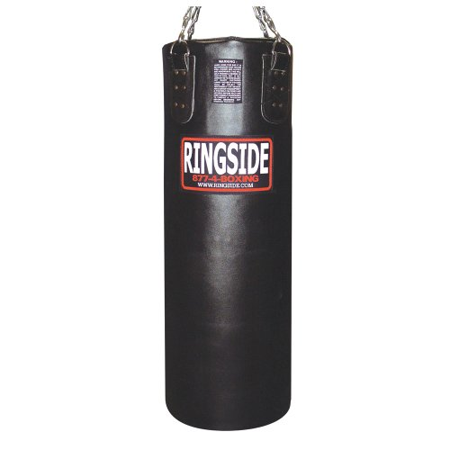 Ringside 100-pound Leather Boxing Punching Heavy Bag (Filled) (Boxing Speed Bag Clip)