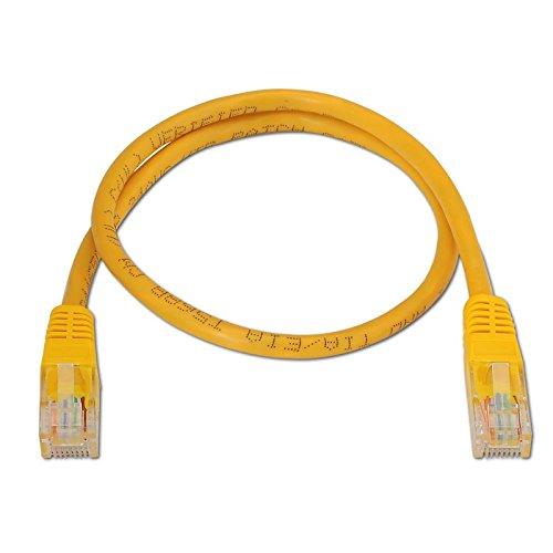 NANOCABLE 10.20.0403-BK - Cable de Red Ethernet RJ45 Cat.6 UTP AWG24, 100% Cobre, Negro, latiguillo de 3mts Nano Cable