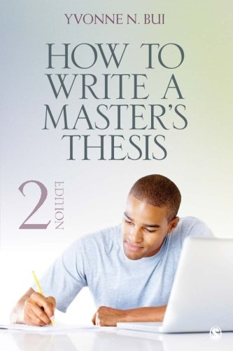 How to Write a Master's Thesis by SAGE Publications, Inc