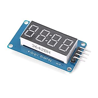 newsmart-x 4 Bits reloj TM1637 Digital Tubo LED Pantalla Módulo Arduino Due uno 2560 r3: Amazon.es: Amazon.es