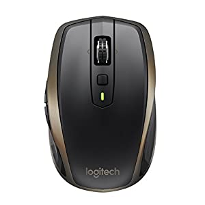 Logitech MX Anywhere 2 Wireless Mouse – Use On Any Surface, Hyper-Fast Scrolling, Rechargeable, for Apple Mac or…