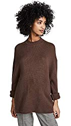 Ryan Roche Women S Oversized Cashmere Sweater Brunette Brown Large