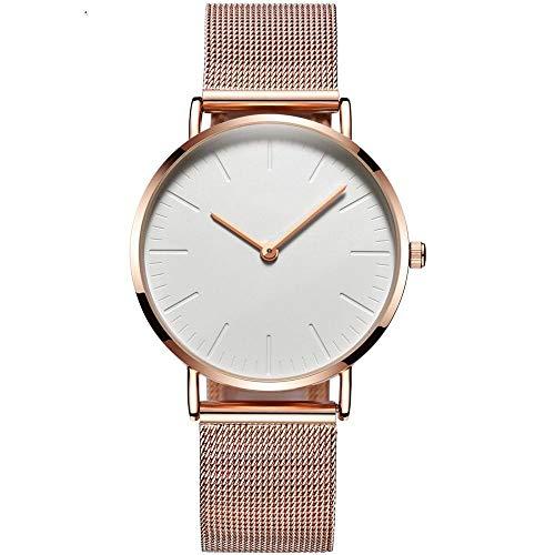 HDWHNSHF Relojes De Mujer Reloj De Señora De Lujo En Oro Rosa Reloj De Pulsera Ultra Fino Reloj De Cuarzo Reloj De Mujer