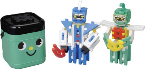 (World of robot) face bottle of New green block (japan import) by Gakken