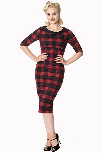Schlauch Damen Kleid Banned Red Apparel wnqSC00a