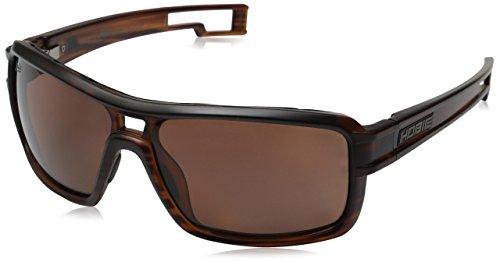 Hobie Men's Phin Polarized Rectangular, Satin Brown Wood Grain, 62 - Sunglasses Hobie Woody