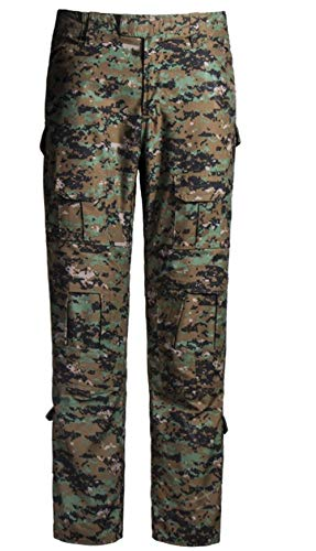 QCHENG Mens Multicam Combat Pants Airsoft Hunting Military Paintball Tactical Army Camo Trousers Uniform Digital Jungle Large