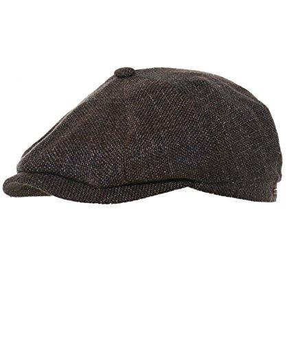 Stetson Men's Woven Linen Blend Hatteras Newsboy Cap 60cm ()