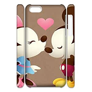 T-TGL(RQ) Iphone 5C 3D Customized Phone Case Mickey Minnie with Hard Shell Protection