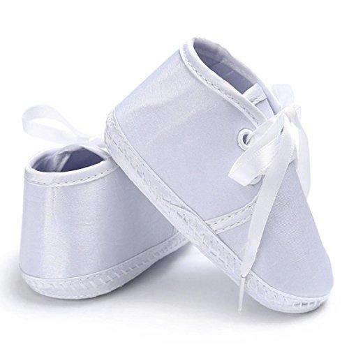 BZLine® Babyschuhe jungen Mädchen Krippe weiche Sohle Schuhe Sneakers Weiß
