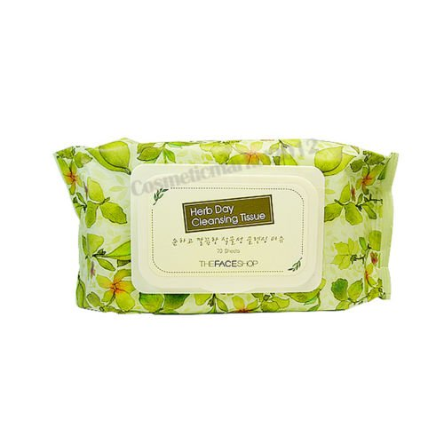 The Face Shop Herb Day Cleansing Tissue 70 - Shop Face Herb