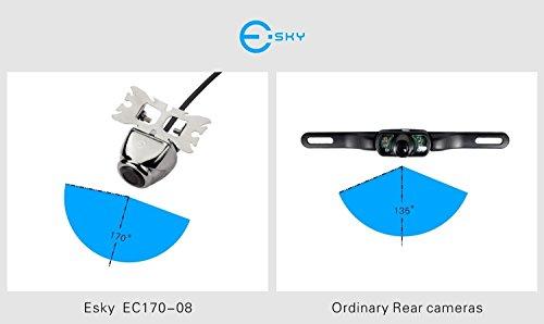 2018 Version Esky EC170-08 Waterproof Vehicle Car Rear View Backup Camera HD