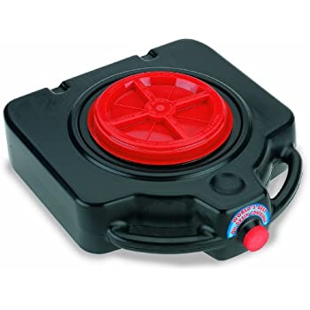 Lumax Black LX-1632 15 Quart Drainmaster Pan and Waste Storage. Ideal for Oil Recycling, Drain Direct-No Oily Tub, Funnel, Mess to Clean-Up on Top or Side