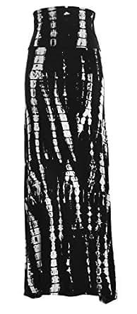 Printed Maxi Skirt (Large, Shadows)