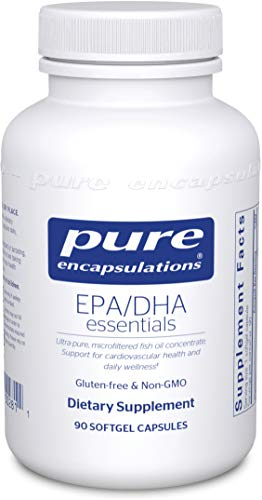 Pure Encapsulations - EPA/DHA Essentials - Ultra-Pure, Molecularly Distilled Fish Oil Concentrate - 90 Softgel Capsules