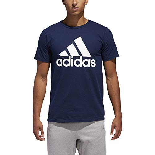 adidas Mens Badge of Sport Classic Graphic Tee, Collegiate Navy/White, Large