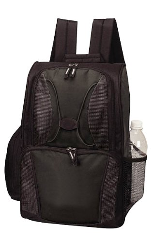 24 Can Picnic Beach Cooler Backpack- Black, Bags Central