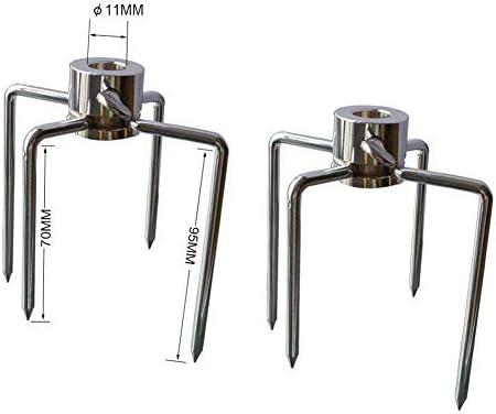 iBoosila 2 STK. Verchromt BBQ Fleischklammer Fleischnadel mit Feststellschraube für Durchmesser von Drehspieß Grillspieß 10 mm und Kleiner
