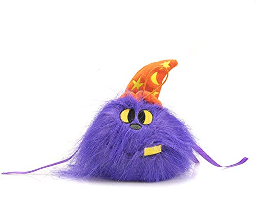 Halloween Light Activated Screamers (Plushland Silly Plush Ball Toy Screamer Goofy Scary Prime Bright Colors Halloween Trick or Treat Hat Elastic Hanger Decorator Fun Spooky Pallywag The Purple Monster Eye Witch Alien Stuffed Animal)