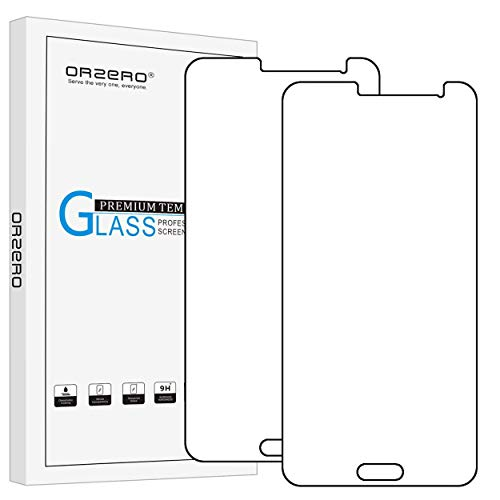 [2 Pack] Orzero Tempered Glass Screen Protector for Samsung Galaxy J3 / J3 Nova / J3 Sky/Express Prime/Amp Prime Anti-Scratch, Anti-Fingerprint, Bubble Free [Lifetime Replacement Warranty]