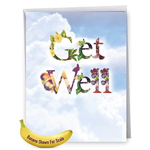 Wishes Get Cards Well (Bunches of Well Wishes' Giant Get Well Card with Envelope (8.5