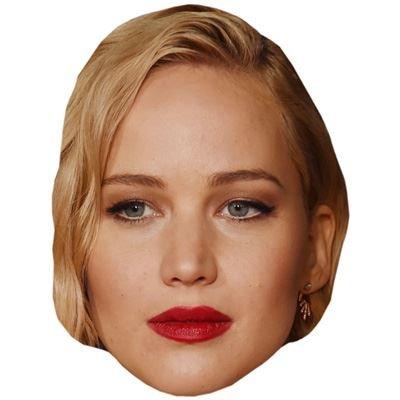 Jennifer Lawrence Celebrity Mask, Card Face and Fancy Dress Mask (Xmen Fancy Dress)