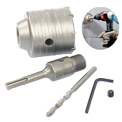 YaeTek SDS Plus Shank Concrete Cement Stone Wall Hole Saw Drill Bit 65mm Rod (Shank Concrete)