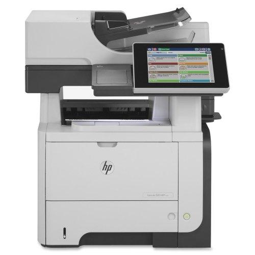 HP LaserJet 500 M525F Laser Multifunction Printer - Monochrome - Plain Paper Print - Desktop - Copier/Fax/Printer/Scanner - 42 ppm Mono Print - 1200 x 1200 dpi Print - 42 cpm Mono Copy - Touchscreen LCD - 600 dpi Optical Scan - Automatic Duplex Print - 600 sheets Input - Gigabit Ethernet - USB