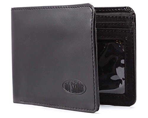 old Passcase Leather Slim Wallet, Holds Up to 30 Cards, Black ()