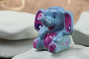 Figura decorativa de yeso hecha a mano original estilosa bonita de elefante: Amazon.es: Juguetes y juegos