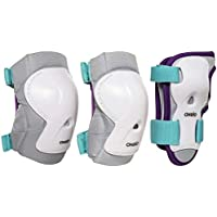 Oxelo Play Kid's Inline Skating Skate Scootering Protective Gear 3-Pack - Turquoise
