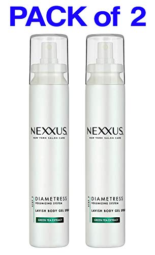 (PACK of 2) Nexxus Diametress Volumizing System - LAVISH Body Gel Spray - 5.1 Fl Oz (150 ml) STEP 3 - GREEN TEA EXTRACT ()