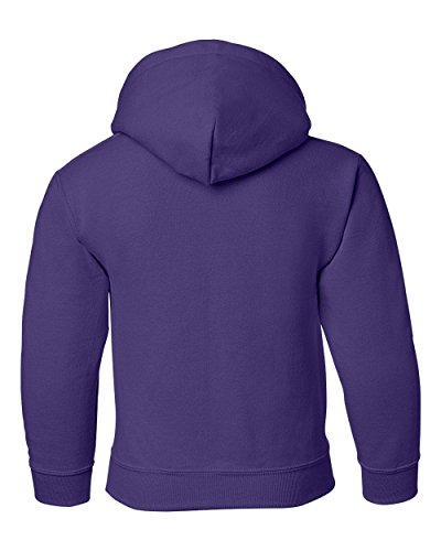 Heavy Blend Youth Hooded Sweatshirt, Color: Purple, Size: Small