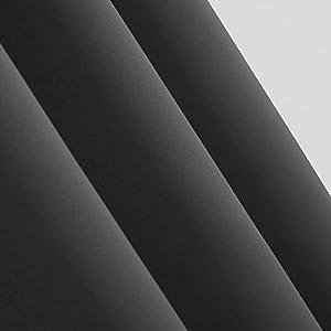 ... Für Schlafzimmer Thermogardinen Vorhang Blickdicht 245×140 Cm  Dunkelgrau 2er Set : Bin Sehr Zufrieden Mit Den Gardinen. Die Qualität Ist  Hervorragend.