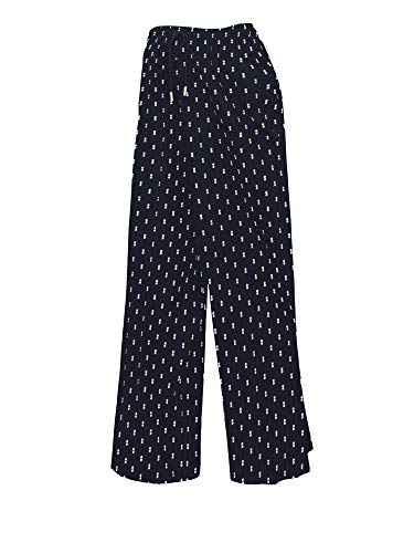 MBJ WB1817 Womens Pleated Ankle Pants with Drawstring OS Double_DOT_Navy